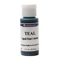 LFC-11 LorAnn Oils Teal Liquid Food Coloring , 1 ounce