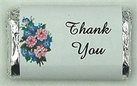 "MW-03 ""Thank You"" Mini Candy Bar Wrapper (sticker) 1 1/2in. x 3 1/2in. (4 sheets) 60 pcs"