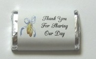 "MW-04 ""Thank You For Sharing Our Day"" Mini Candy Bar Wrapper (sticker) 1 1/2in. x 3 1/2in. (4 sheets) 60 pcs"