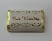 "MW-05 ""Our Wedding"" Mini Candy Bar Wrapper (sticker) 1 1/2in. x 3 1/2in. (4 sheets) 60 pcs"