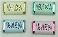 "MW-08 ""BABY"" Assorted Colors Mini Bar Wrappers (sticker) 1 1/2in. x 3 1/2in. (1 sheet of each design) 60 pcs"