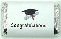 "MW-09 ""Congratulations!"" Mini Candy Bar Wrapper (sticker) 1 1/2in. x 3 1/2in. (4 sheets) 60 pcs"