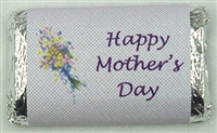 "MW-10 ""Happy Mother's Day"" Mini Candy bar wrapper (sticker)1 1/2in. x 3 1/2in. (4 sheets) 60 pcs"