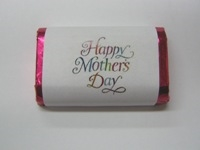 "MW-102 ""Colorful Mother's Day"" Mini Candy Bar Wrapper (sticker) 1 1/2in. x 3 1/2in. (4 sheets) 60 pcs"