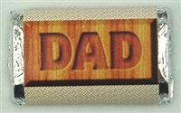"MW-11 ""DAD"" Mini Candy Bar Wrapper (sticker) 1 1/2in. x 3 1/2in. (4 sheets) 60 pcs"