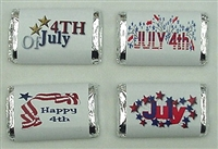MW-12 4th of July Assortment Mini Candy Bar Wrappers (sticker) 1 1/2in. x 3 1/2in. (1 sheet of each design) 60pcs