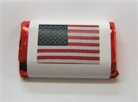 MW-120 U.S. Flag Mini Candy Bar Wrapper (sticker) 1 1/2in. x 3 1/2in. (4 sheets/60 pcs)