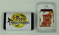 MW-13 Halloween Assortment #1 Mini Candy Bar Wrapper (sticker) 1 1/2in. x 3 1/2in. ( 2 sheets of each design) 60 pcs
