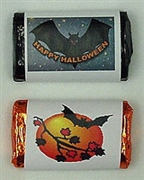 MW-14 Halloween Assortment #2 Mini Bar Wrapper (sticker) 1 1/2in. x 3 1/2in. (2 sheets of each design) 60 pcs