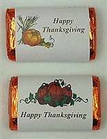 "MW-15 ""Happy Thanksgiving"" #1 Mini Candy Bar Wrapper (sticker) 1 1/2in. x 3 1/2in. (2 sheets of each design)60 pcs"