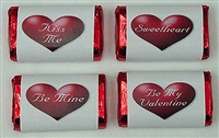 "MW-23 Valentine Assortment Mini Candy Bar Wrapper (sticker) 1 1/2"" x 3 1/2"" (1 sheet of each design) 60 pcs"