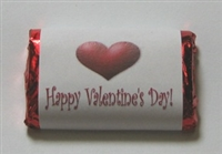 "MW-24 ""Happy Valentine's Day"" Mini Candy Bar Wrapper (sticker) 1 1/2in. x 3 1/2in. (4 sheets) 60 pcs"