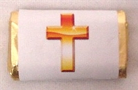 "MW-26 ""Cross"" Mini Candy Bar Wrapper (sticker) 1 1/2"" x 3 1/2"" (4 sheets) 60 pcs"