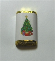 "MW-55 ""Christmas Tree"" Mini Candy Bar Wrapper (sticker) 1 1/2in. x 3 1/2in. (4 sheets) 60 pcs"