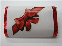 "MW-60 ""Red Ribbon 2"" Mini Candy Bar Wrapper (sticker) 1 1/2"" x 3 1/2"" (4 sheets) 60 pieces"