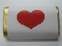 "MW-71 ""Heart of Hearts"" Mini Candy Bar Wrapper (sticker) 1 1/2in. x 3 1/2in. (4 sheets) 60 pcs"