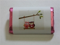 "MW-73 ""Love Birds"" Mini Candy Bar Wrapper (sticker) 1 1/2in. x 3 1/2in. (4 sheets) 60 pcs"