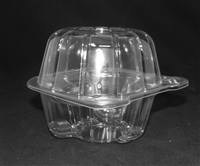 PCC-01  1 piece 1 cavity Cupcake/Muffin Container