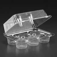 PCC-06Q  1 piece 6 cavity Cupcake/Muffin Container