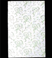 PD-11  Gold floral on white candy pad (fits 1 lb. rectangle boxes) 5 7/8in. x 9 1/8in. Quantity 100