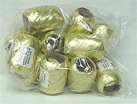 RE-15 Gold poly ribbon egg 3/16in. x 66ft. Quantity 12