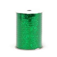"RHS-04 Emerald Green Holograhic ribbon spool 3/16"" x 100yds."