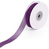 "RN-10 Plum sheer organza ribbon 1/4"" x 25yds."