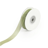 "RN-21 Moss sheer organza ribbon 1/4"" x 25yds."