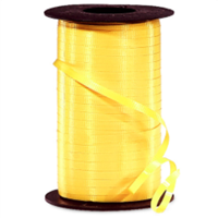 RS-11 Yellow-curling ribbon spool  (4 or more mix any colors $1.50 ea.) 3/16in. x 500 yds.