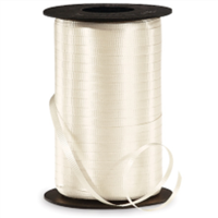 RS-14 Ivory-curling ribbon spool   (4 or more mix any colors $1.50 ea.) 3/16in. x 500 yds.