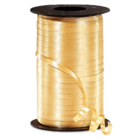 RS-15 Gold-curling ribbon spool  (4 or more mix any colors $1.50 ea.) 3/16in. x 500 yds.