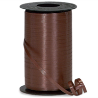 RS-18 Chocolate-curling ribbon spool (4 or more mix any colors $1.50 ea.) 3/16in. x 500 yds.