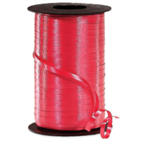 RS-19 Red-curling ribbon spool  (4 or more mix any colors $1.50 ea.) 3/16in. x 500 yds.