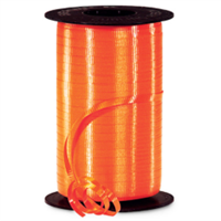 RS-40 Orange-curling ribbon spool  (4 or more mix any colors $1.50 ea.) 3/16in. x 500 yds.