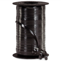 RS-90 Black-curling ribbon spool  (4 or more mix any colors $1.50 ea.) 3/16in. x 500 yds.