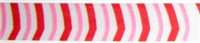 "RSP-13 ""Peppermint Stick"" pink/white/red ribbon. Spool: 3/8in. x 250 yards"