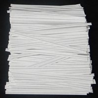 "TP-05 White paper twist tie. 3 1/2"" Length Quantity 2,000"