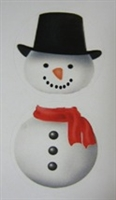 "TS-39 ""2 piece Snowman"" on White Label 1 1/2 x 3 1/4 looks great on foil wrapped sandwich cookies in BO-52 box. Quantity 96"