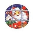 "TS-81 ""Santa"" on White Label. 1 5/8inch diameter. Quantity 96"