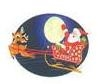 "TS-83 ""Santa Sleigh"" on White Label. 1 5/8inch diameter. Quantity 96"