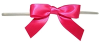 "TTB2-28  Hot Pink 2 1/2"" Twist Tie Bow Qty 100"