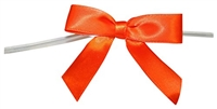 "TTB2-95  Orange 2 1/2"" Twist Tie Bow Qty 100"