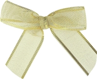 "TTB2M-01  Metallic Gold 2 1/2"" Twist Tie Bow Qty 100"