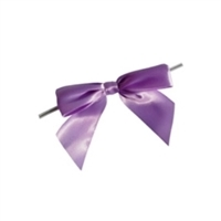 "TTB3-08  Lavender 3 1/4"" Twist Tie Bow Qty 100"
