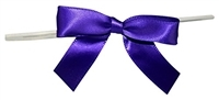 "TTB3-09  Purple 3 1/4"" Twist Tie Bow Qty 100"