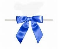 "TTB3-12  Royal Blue 3 1/4"" Twist Tie Bow Qty 100"