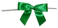 "TTB3-17  Emerald 3 1/4"" Twist Tie Bow Qty 100"