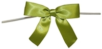 "TTB3-21  Moss Green 3 1/4"" Twist Tie Bow Qty 100"
