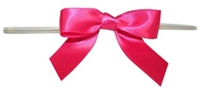 "TTB3-28  Hot Pink  3 1/4"" Twist Tie Bow Qty 100"