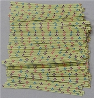 "TTP-07 Printed Paper Spring Flowers twist tie. 3 1/2"" Length Quantity 2000"